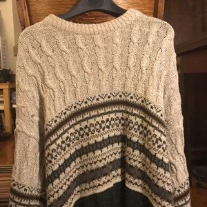 Knit and patterned big sweater made in USA